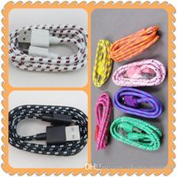 Wholesale Wholesale Phone Extension Data Cords - 1M 3FT Extension Micro USB Fiber Braided Data Charger Cable Extra Long Fabric Knit Charging Cord For Mobile Phone Smartphone B 2015 1-SX
