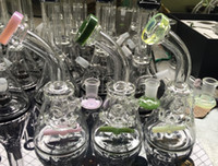 Wholesale Oil Spin - New Glass dabs glass bongs oil rig with propeller percolator the faster it spins when you used water pipe glass pipe USA bong