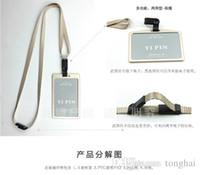 визитные карточки размера оптовых-Высококачественная визитная карточка из алюминиевого сплава с регулируемыми держателями талрепов (стандартный размер 86 * 54 мм) H210488