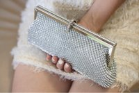 Wholesale Beautiful Evening Bags - Beautiful Women Wedding Handbag Fashion Long Elegant Diamonds Evening Bag Day Clutches Long Purse With Chain 2016