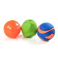 Wholesale soft rubber dog toys resale online - Pet Cat Dog Ball Toys Soft Rubber Dog Chew Squeaker Squeaky Toys Food Dispenser Dog Toy Teeth Bite Toys New Arrival Promotion