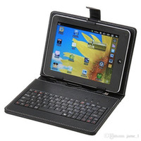 10.1 polegadas Tablet PC Couro Com Micro USB English / Russian / Multi-Language 10.1 polegadas Tablet Keyboard Case Cover Stand Case