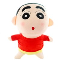 "Wholesale japanese dolls videos - Free Shipping 1Pcs 35Cm =13.8""Naughty Crayon Shin Chan Stuffed Plush Doll Japanese Anime Shin -Chan Action Figure For Best Gift"