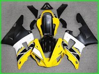 Wholesale Yellow white blk Fairing kit for YAMAHA YZFR1 Injection mold YZF R1 YZF1000 yzfr1 ABS Fairings set