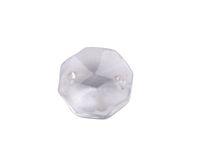 kronleuchter glas kristalle teile großhandel-50 PCS 2 Löcher Kristallglas Octagon Chandelier Teile Großhandel
