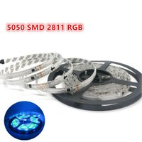 Wholesale Led 2811 - DC 12V 30leds m 2811 RGB Flexible LED Strip Light 5050 SMD RGB Waterproof IP65 Automatic Changing RGB color DIY led tape