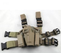 Wholesale Drop Leg Mag - For  M9 92F Tactical Airsoft Drop Leg Right handed holster Set W  Panel Mag Flashlight Pouch Belt Loop paddle Sand