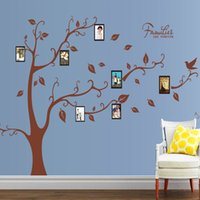 Wholesale Nature Pictures Wallpapers - Family Tree Picture Frame Wall Stickers Living Room Bedroom Home Decor Wall Mural Poster Family Forever Wallpaper Quote Decoration Graphic