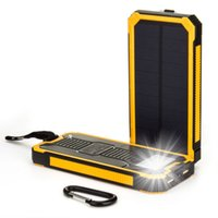 Top 10000mAh Portable Solar Power Bank Bateria de carregador de backup LED USB duplo