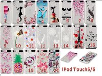Wholesale Macaron Tower - Macaron Girl Soft TPU Case Flower Clear Dream catcher Butterfly Eiffel Tower For Apple Ipod Touch 5 6 Touch6 Huawei P9 LG K7 M1 K10 M2 Skin