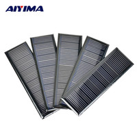Wholesale diy solar cell phone charger resale online - AIYIMA V W A mm Poycrystalline Silicon Epoxy Solar Panels for DIY Solar Cells Lamp light Charger