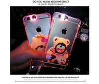 """Wholesale Wholesale Luxury Gift Items - Luxury tranparent Phone Case with stand right For iphone 6 6s 4.7"""" 6Plus 5.5""""Soft Silicone Back Cover Case for promotion item gift"""