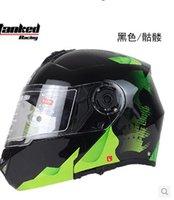 Wholesale German Tank Helmet - Authentic German tanks dual lens visor exposing T270 motorcycle helmet electric car ran warm winter helmet