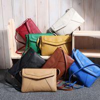 Wholesale Solid Color Clutch Bags - 2017 Fashion Bags Totes Messenger Bag Female Shoulder bags Clutch Totes envelope candy Solid color Satchel