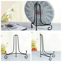 Wholesale quot quot Iron Easel Classic Display Stand Bowl Plate Photo Frame Book Artwor Black