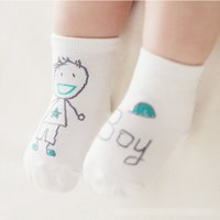 Wholesale Cute Boy Lovely - 12Pairs Lot Baby Boys Girls Cute Scrawl Socks Suitable Kids Children Toddler Lovely Socks For 0-4 Years Old Infant Baby