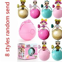 Wholesale Funny Cartoons Kids - Funny Lol Surprise Doll Open Eggs Dolls Ball Children Anime Action Figure Kids Toys Fun Surprise Egg KKA2834
