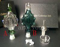 nektar sammler anhänger großhandel-2016 neueste Nectar Collector Perc Anhänger Kits mit Titan Nagel Quarz Nail Wearable Glasbongs Wassergekühlten und Spillproof Glas Bongs