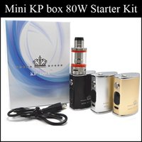 Wholesale E Cigarette Sample Atomizer - Authentic SMOD Mini KP BOX 80W Kit starter kits 80W mod sample kit E Cigarette Kit 1500mAh Vaporizer kit smod RBA atomizer