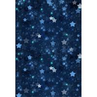 backdrops bleu achat en gros de-Dark Blue Night Sky Glitter Étoiles Photographie Décors Vinyl Baby Nouveau-Né Photo Shoot Wallpaper Enfants Enfants Studio Fond