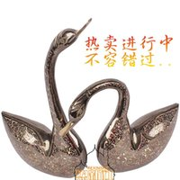 Wholesale Pakistan bronze inch color large Swan animal handmade art furnishings imported copper