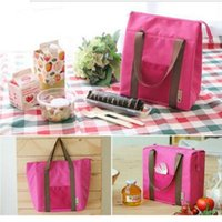 Wholesale Red Lunch - Hot sale Large Lunch Pouch Waterproof lunch Cooler bag 4 colors Available Handy Cooler bags Portable Outdoor Picnic Thermal Insulation Bag