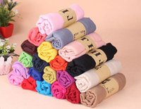 Wholesale Cheap Plain Scarves - Cheap 18 Colors Solid Pashmina Linen Scarves Classy Women's Shawls Plain Ladies Wraps Soft Fringes Autumn Scarf For Girls Size 180*90 CM
