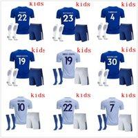 Wholesale Boys Blue Gold Suits - 2017 2018 Kids Chelsea Soccer Jerseys Soccer Sets Youth Uniform HAZARD OSCAR DIEGO COSTA Willian Pedro KANTE Boys Football Suit With Socks