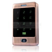 Wholesale Metal Control Panel - 125KHz RFID Card Reader Touch Panel Backlight Metal Case Password Keypad for Access Control System C30