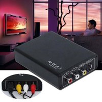 Vente en gros - HDMI vers AV S-Video CVBS Video Converter HDMI vers SVIDEO + S VIDEO Switcher Adapter HD 3RCA PAL / NTSC Switch pour TV PC Blue-Ray DVD