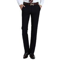 Wholesale Mens Wedding Trousers - Wholesale-2016 Brand Clothing Mens Suit Pants Mens Dress Pants Formal Man Wedding Business Suit Trousers Vertical Stripes HX055-8019 AA