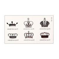 Wholesale Crown Tattoos Waist - Body Art Waterproof Elegant Temporary Tattoo Sticker DIY ( Imperial crown )