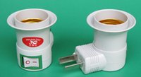 Wholesale Uk Sockets Switches - New Arrive Adjustment US UK AU plug AC Power 100-250v to E27 Bulbs Socket Adapter Night Halogen LED CFL Light   with On OFF Switch Via DHL