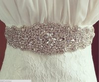 Wholesale Evening Satin Men - 2016 High Quality Bridal Sashes Crystal Beads 100% Real Image White In Stock Bridal Belts For Wedding Evening Party Hot Sale