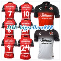 Wholesale Corona Black - TOP QUALITY 17 18 Mexico Club Tijuana Home away Soccer Jersey Xolos de Tijuana G.BOU CORONA LUCERO MALCORRA KALINSKI L.CHAVEZ football shirt