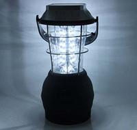 lumières à main rechargeables achat en gros de-Super Bright Lanterne De Camping Solaire 36 Led Lampe De Camping Solaire Lampe De Main Solaire Rechargeable Lumière De Camping Lanterne Portable Lanternes
