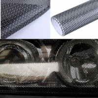 Wholesale Light Black Tint Headlights - 106 x 28 cm Tinting Perforated Mesh Film Fly-Eye Legal Tint Headlight Rear Light Cheap headlight wash
