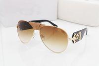 Wholesale Oversized Chain - 2017 NEW Fashion Medusa Mens Retro Sunglasses Vintage women Brand Designer Plastic Gold Chain Oversized Shades Sunglass oculos zonnebril