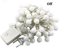 Wholesale ac day - 10M led string lights with 80led ball AC220V holiday decoration lamp Festival decoration for Valentine's Day Christmas party wedding