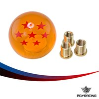 Wholesale Ball Gear Knob - : PQY RACING-Rare Gear SHIFT KNOB DRAGONBALL Z DRAGON BALL 54mm ID 7 STARS M8 M10 12 For Honda Acura TOYOTA NISSAN PQY-SK111LZ