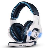 kopfhörer sades großhandel-Sades SA-903 7.1 Surround-Sound-Kanal USB-Gaming-Headset Verdrahteter Kopfhörer mit Mic Lautstärkeregler Noise Cancelling Mic Kopfhörer