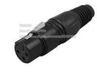 Wholesale Microphone Xlr Pin - Microphone Patch XLR 3Pin Female Plug Cable End Connector, NICKEL Plated Pin,Black Color Free Shipping 3PCS