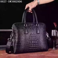 Wholesale Briefcases Lock - Designer Men leather totes Crocodile cowhide totes 39cm accommodate Ipad Note etc absolutly top quality Men casual Briefcase