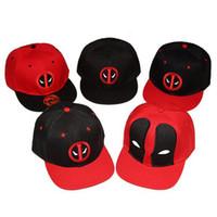 Moda comic Marvel Deadpool cappello Snapback ossa Aba Reta costumi Baseball  cotone per uomini Uomo Sport Hip Hop Cap cd9b990525bb