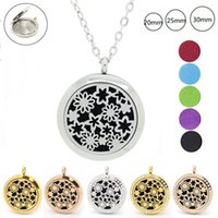 Wholesale Design Diamond Pendants - With chain as gigt! wholesale 30mm 316L stainless steel essential oil diffusing locket design perfume locket