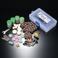 Wholesale 196pcs quot Electric Grinder Dremel dill engraver Shank Rotary Tool Accessories Grinding engraving Polishing Bit Accessory Kit