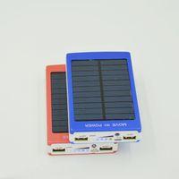 Wholesale External Battery For Smart Phone - Solar Power Bank Charger External Emergency Backup Battery 30000mAh Portable Solar Power Bank For Smart Phone Double USB Port