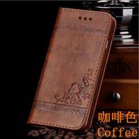 Wholesale Vintage Style Iphone Cases - Luxury vintage retro wallet leather flip case cover fashion business style for Apple iPhone 5s se 6 6s 7 plus