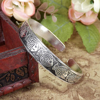 Wholesale Open Fish Charm - 2016 wholesale lowest womens ladies females fish wide ethnic opening Tibetan silver bangles bracelets wristband free shipping