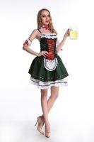 Wholesale Hot Mardi Gras Girl - HOT SELL sexy Oktoberfest Wench Ladies Fancy Dress German Bavarian Beer Girl Womens Costume s350